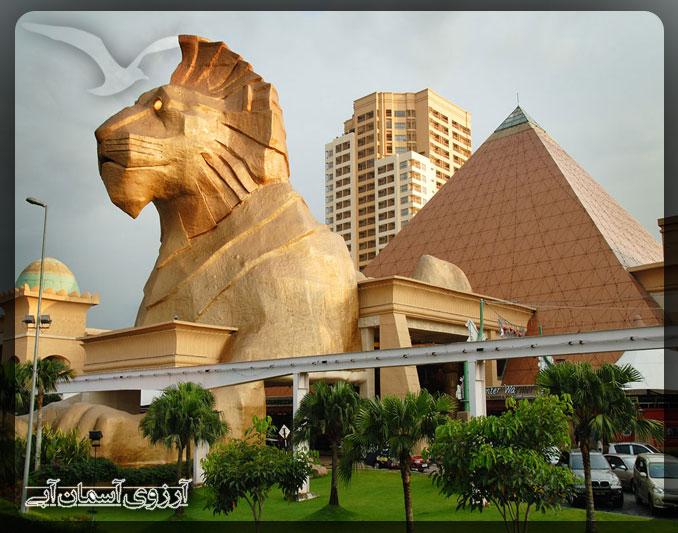 مرکز خرید سان وی پیرامید کوالالامپور _ آسمان آبی