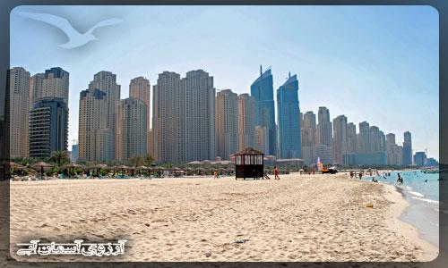 ساحل عمومی جمیرا دبی _ آسمان آبی