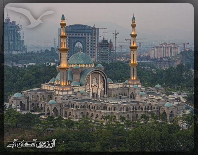 مسجد فدرال كوالالامپور _ آسمان آبي