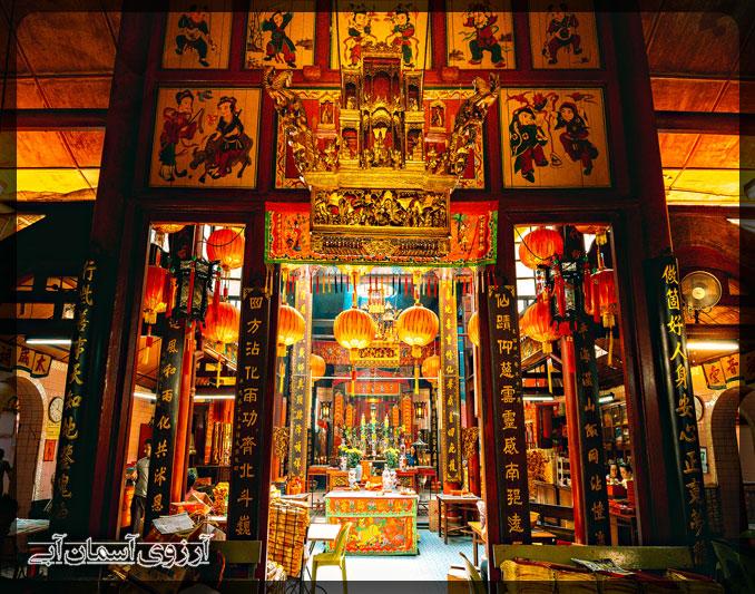 معبد سين زي سي يا كوالالامپور _ آسمان آبي
