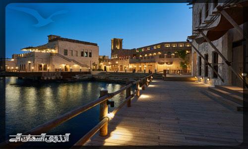 منطقه آل سيف و نهر دبي _ آسمان آبي