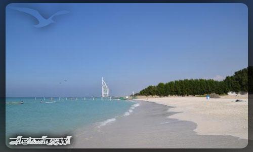 ساحل الصفوح دبی _ آسمان آبی