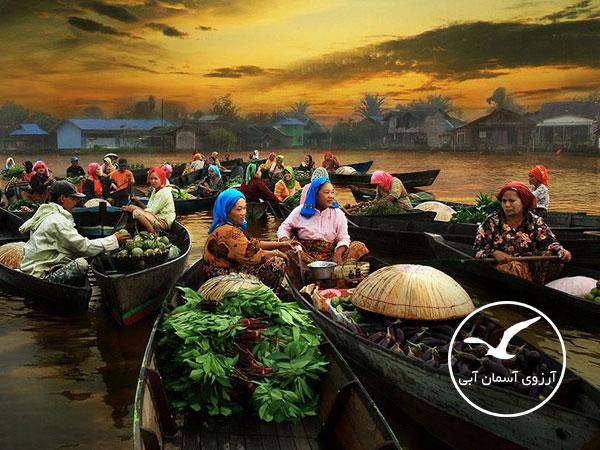 بازار-شناور-دامنون-سادوآک-بانکوک
