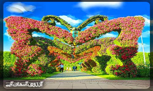 باغ پروانه دبي _ آسمان آبي