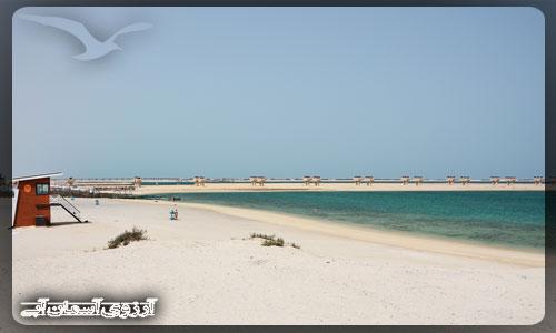 ساحل جبل علی دبی _ آسمان آبی