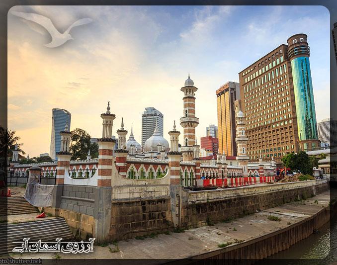 مسجد جامك كوالالامپور _آسمان آبي